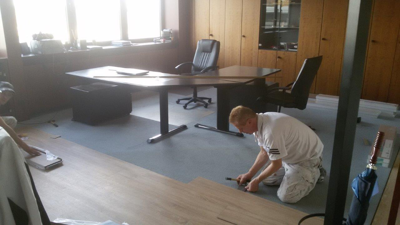 Bodenbelag In Einem Buro Malermeister Adam