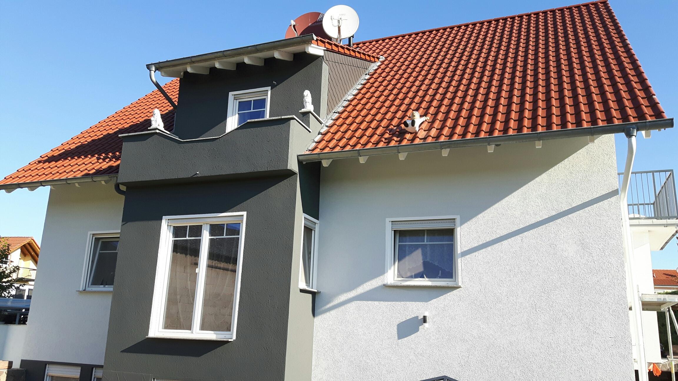 Renovierung der Fassade eines Hauses